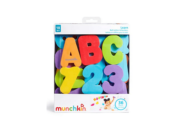 Munchkin letters and numbers bath play