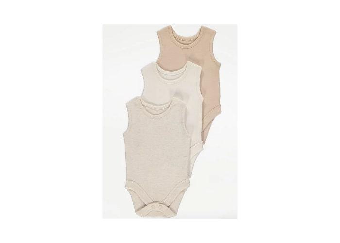 3pc Unisex Sleeveless Bodysuits 6lb