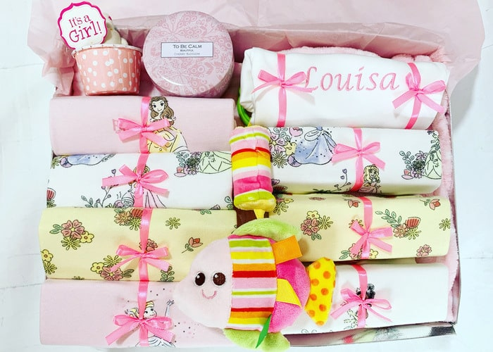 My Little Princess baby girl personalised gift hamper